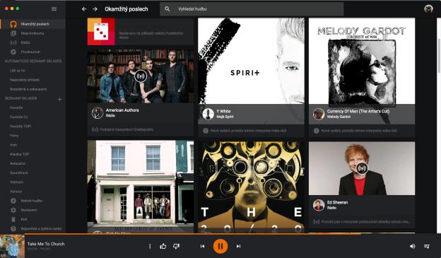Poslech z Google Music na OSX pohodlně