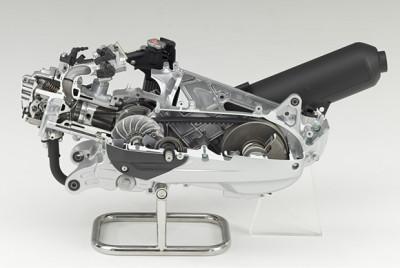 Motor skútru s automatickou převodovkou