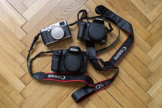 Porovnání Canon 450D vs. 7D vs. Fujifilm X100T a pár slov jak vybrat foťák